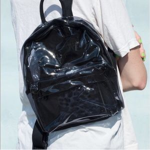 Clear Black Brandy Melville Mini Backpack